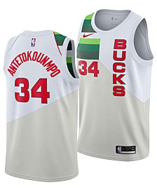 Nike Giannis Antetokounmpo Milwaukee Bucks Earned Edition Swingman Jersey, Big Boys (8-20)