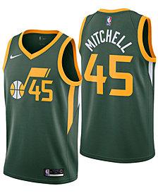Nike Donovan Mitchell Utah Jazz Earned Edition Swingman Jersey, Big Boys (8-20)