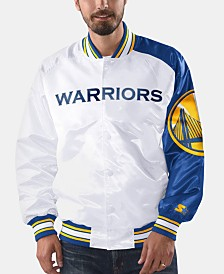 G-III Sports Men's Golden State Warriors Dugout Opening Day Satin Jacket