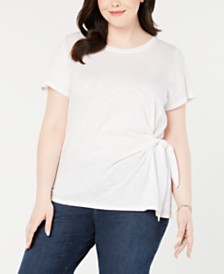 Style & Co Plus Size Side-Tie T-Shirt, Created for Macy's