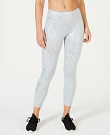 Ideology Metallic-Print Leggings, Created for Macy's