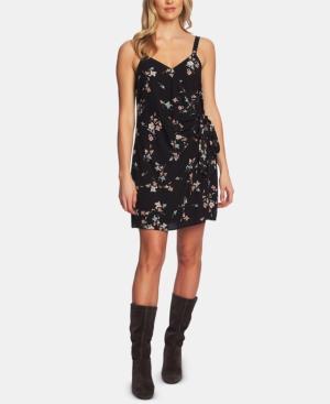 1.state Dresses FLORAL-PRINT WRAP DRESS