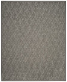 Natural Fiber Light Gray and Gray 9' x 12' Sisal Weave Area Rug