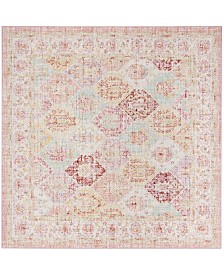 Safavieh Windsor Pink and Multi 6' x 6' Square Area Rug