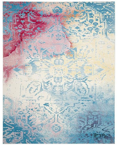 Safavieh Watercolor Light Blue and Light Yellow 8' x 10' Area Rug