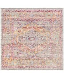 Safavieh Windsor Gray and Gold 6' x 6' Square Area Rug