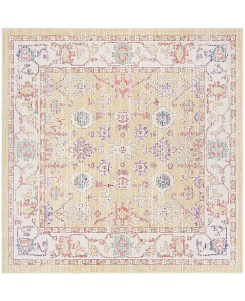 Safavieh Windsor Gold and Lavender 6' x 6' Square Area Rug