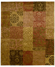 "CLOSEOUT! Nourison Area Rug, Rajah Collection JA42 Nadhir Multi 9'6"" x 13'6"""