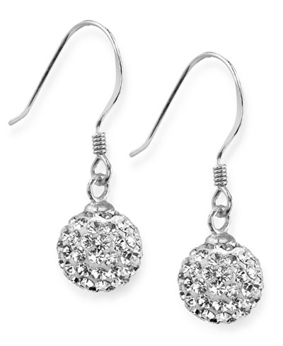 Unwritten Sterling Silver Earrings Crystal Pave Drop