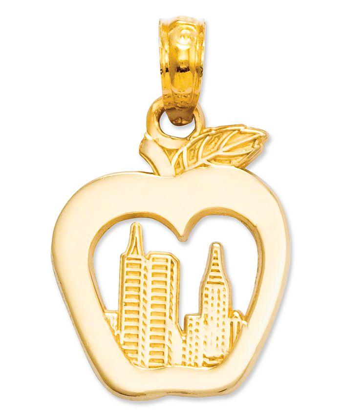 Macy's - 14k Gold Charm, New York Skyline in Apple Charm