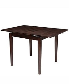 "Extendable Stained Dining Table with Two 8"" Leaves"