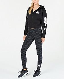 Air Fleece Zip Hoodie & Logo-Print Leggings