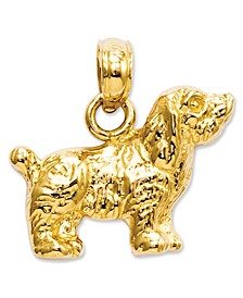 14k Gold Charm, Cocker Spaniel Dog Charm