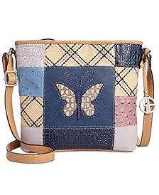 Giani Bernini Butterfly Patchwork Crossbody, Created for Macy's