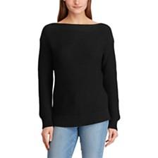 Lauren Ralph Lauren Boat Neck Cotton Sweater