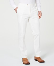Bar III Men's Slim-Fit Stretch Flat Front Dress Pants, Created for Macy's
