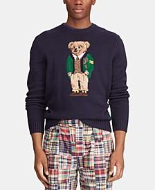 폴로 랄프로렌 Polo Ralph Lauren Mens Polo Bear Sweater,Navy Yale Bear