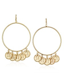 "Capwell & Co. Forward Extra Large 2.9"" Hoop Earring"
