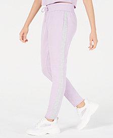 Material Girl Juniors' Side-Stripe Sweatpants, Created for Macy's