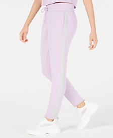 e5754e8a4020 Material Girl Juniors  Side-Stripe Sweatpants