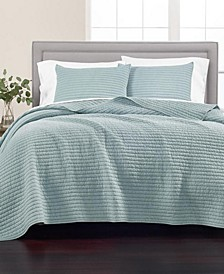 Washed Rice Stitch Quilt and Sham Collection, Created for Macy's