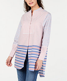 Tommy Hilfiger Striped Tunic Shirt, Created for Macy's