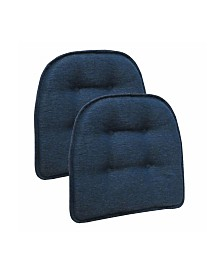 The Gripper Non-Slip Omni Tufted Bar Stool Cushion, Set of 2