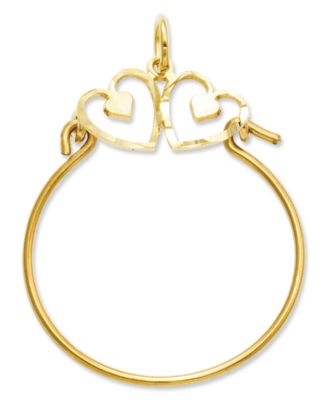 14K Two-Tone Gold Crown Charm Pendant MSRP $256