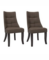 Corliving Tufted Dining Accent Chairs Set Of 2