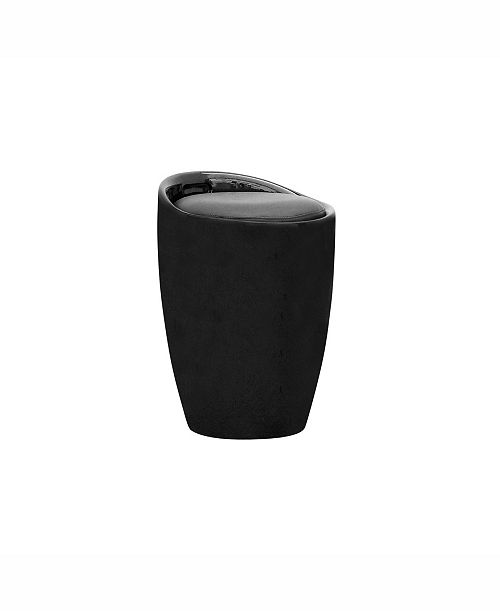 Corliving Distribution Corliving Storage Stool in Leatherette
