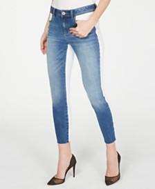 I.N.C. White-Duo Indigo Skinny Jeans, Created for Macy's