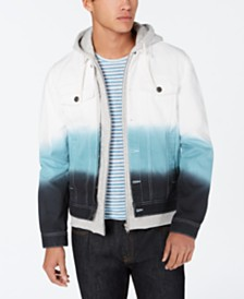 American Rag Men's Dip-Die Trucker Jacket, Created for Macy's