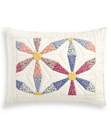 Martha Stewart Collection Daisy Wheel Artisan Standard Sham, Created for Macy's