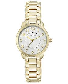 Anne Klein Women's Gold-Tone Bracelet Watch 30mm