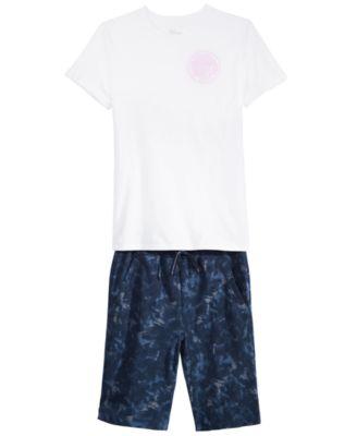 Big Boys Tie-Dye Knit Shorts, Created for Macy's