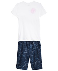 Epic Threads Big Boys Original 360 T-Shirt & Tie-Dyed Shorts Separates, Created for Macy's