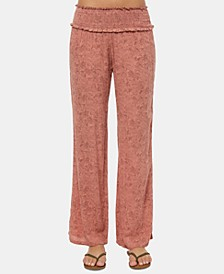 Juniors' Johnny Smocked Soft Pants