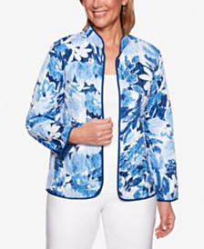 Alfred Dunner Classics Quilted Floral-Print Jacket