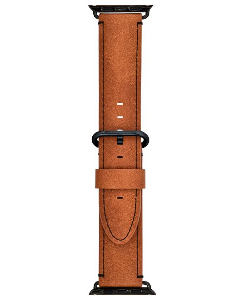 INC International Concepts I.N.C. Brown Faux-Leather Apple Watch® Strap, Created for Macy's