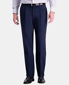 Men's Premium Comfort Stretch Classic-Fit Solid Pleated Dress Pants