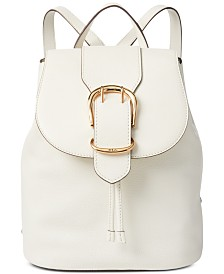 Lauren Ralph Lauren Cornwall Pebble Leather Backpack