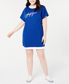 Tommy Hilfiger Sport Plus Size Logo T-Shirt Dress