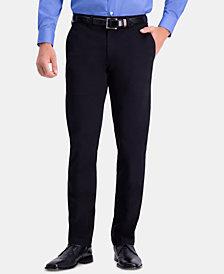 Haggar Men's Premium Comfort Slim-Fit 2-Way Stretch Wrinkle-Resistant Flat-Front Dress Pants