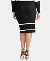 4d069e5dc0fc RACHEL Rachel Roy Trendy Plus Size Ribbed Pencil Sweater Skirt