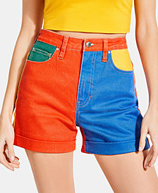 GUESS x J BALVIN Claudia Colorblocked Shorts