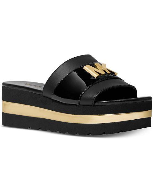 77018b188b49 Michael Kors Brady Platform Slide Sandals   Reviews - Sandals   Flip ...