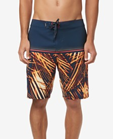 "O'Neill Men's Hyperfreak Apocalypse Stretch Colorblocked 20"" Board Shorts"