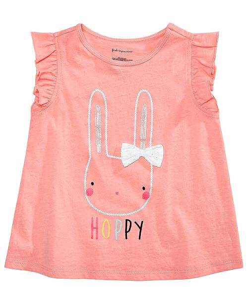 First Impressions Baby Girls Graphic-Print T-Shirt, Created for Macy's