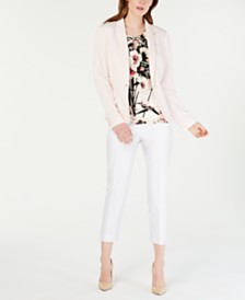 Tommy Hilfiger Blazer, Printed Top & Cropped Pants
