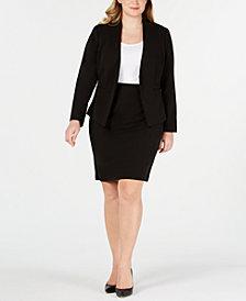 Calvin Klein Plus Size Asymmetrical Jacket & Pencil Skirt